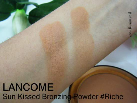 Lancome Sun Kissed Bronzing Powder #Riche swatches