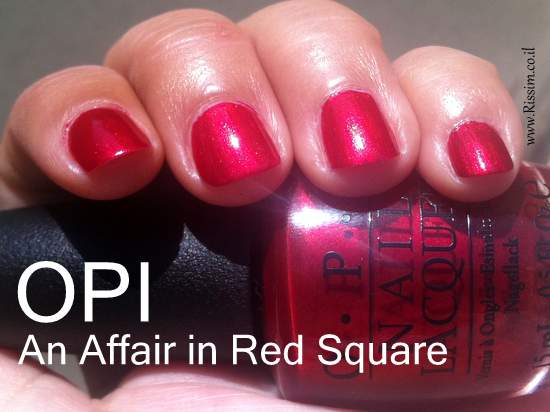 OPI An Affair in Red Square swatches