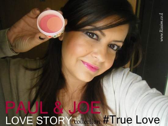 Paul & Joe True love blush swatches on face