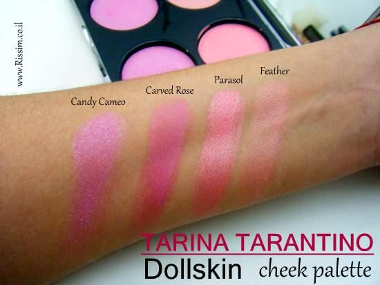 Tarina Tarantino Dollskin cheek palette swatches