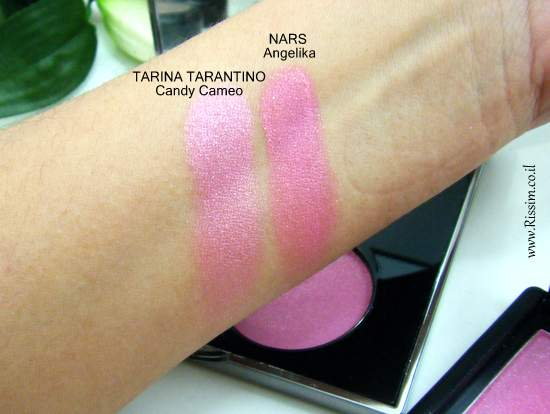 Tarina Tarantino Dollskin cheek palette swatches comparison