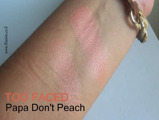 Too Faced Papa Don't Peach swatches