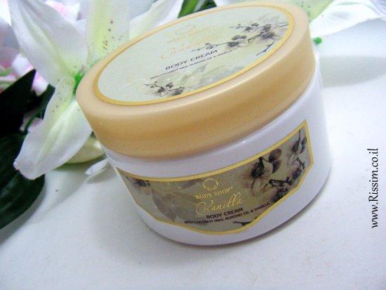 Body Shop Vanilla body cream