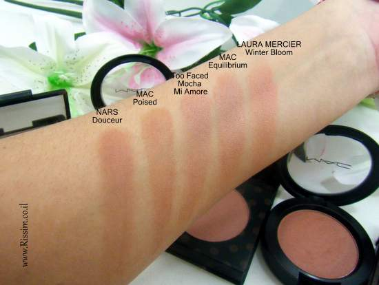 MAC poised blush swatches