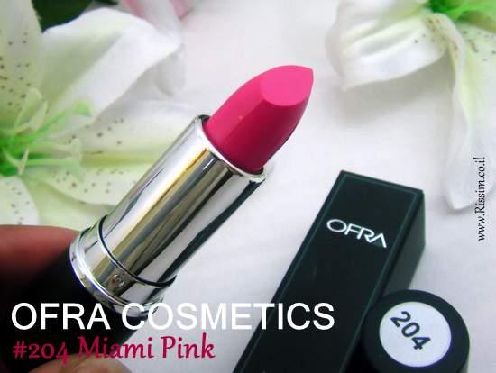 Ofra Cosmetics lipstick #204 Miami Pink
