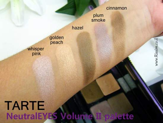 Tarte NeutralEYES Volume II Palette swatches 2