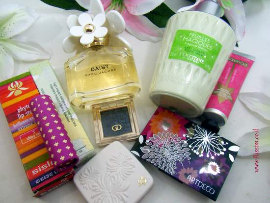 spring flowers in beauty products