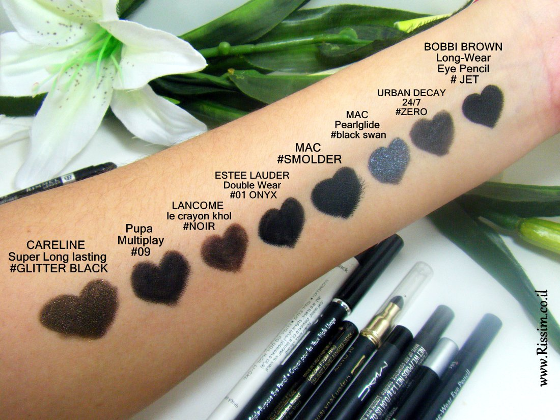 Black Eye pencils swatches