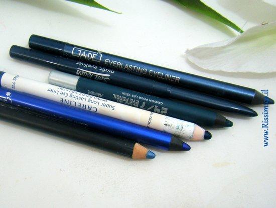 עפרון עיניים כחול טורקיז ותכלת