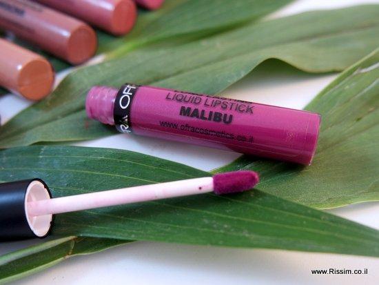 שפתון נוזלי של עפרה בגוון מאליבו - Malibu