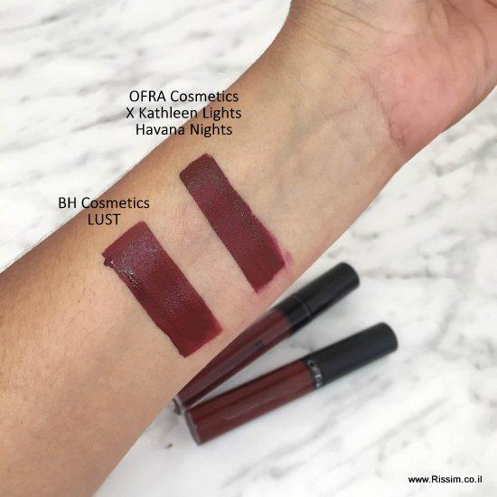 LUST של BH Cosmetics מול הוואנה נייטס של OFRA