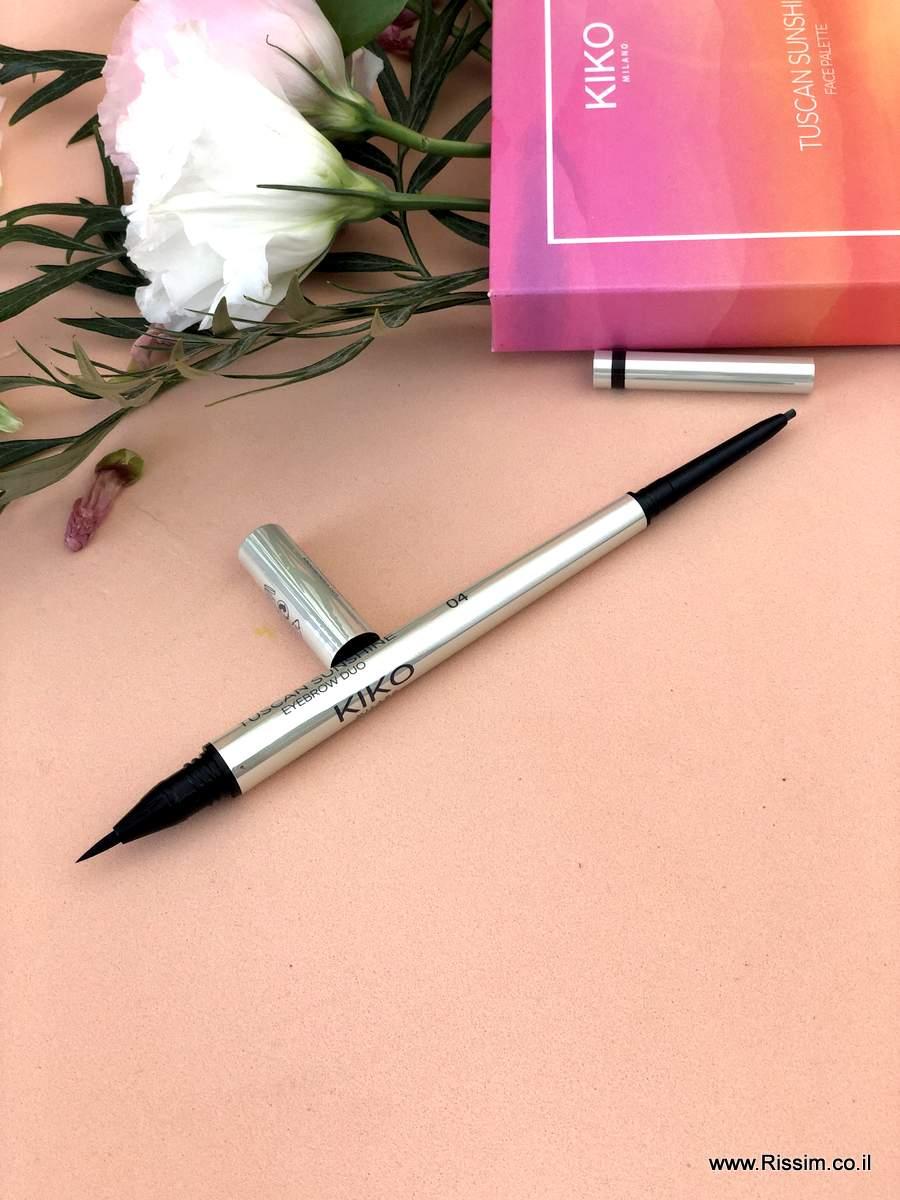 עפרון גבות דו צדדי של קיקו - Tuscan Sunshine Eyebrow Duo