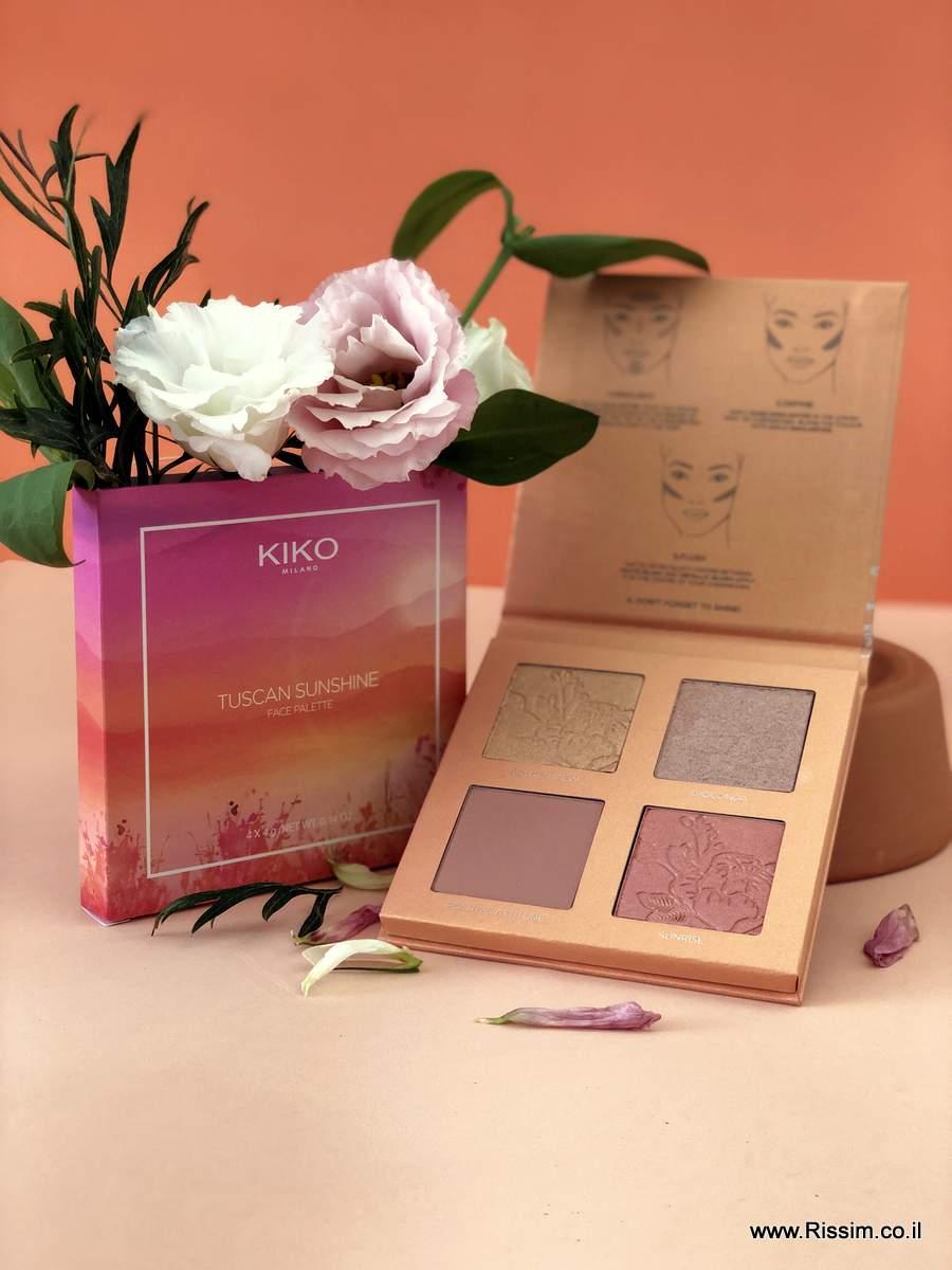 פלטת פנים - KIKO Tuscan Sunshine Face Palette